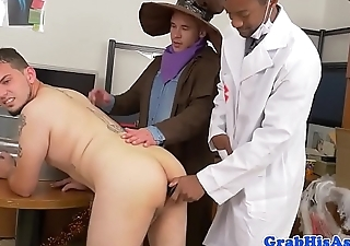 Workplace dress up party anal fuck for boss