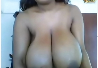 Thick ebony with lactating melons