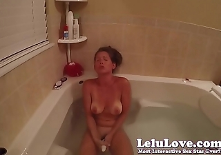 Underwater masturbating in the shower then vibrator and fingering to finish up..