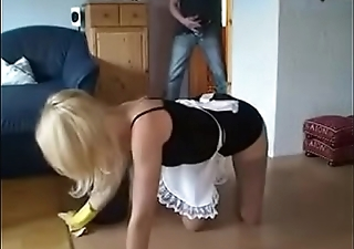 German Blonde Mom get hot Fuck from young Son