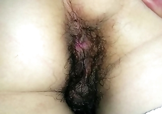 Sleeping wife hairy pussy and ass. Amateur.