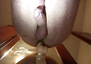 Spanish gay playing with dildo