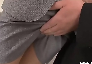Sexy Asian secretary sucks president'_s cock to a yummy mouthful