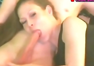 sexy babe hairjob deepthroat blowjob cum swallow