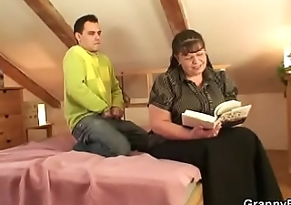 Big boobs bookworm woman seduced wide of a guy