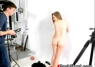 Brunette Beauty Getting Her Tits Out At Start Of Cash Stunt