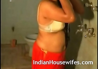 Hot Indian Bhabhi Taking Shower In Underwear