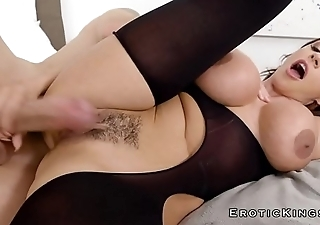 Busty sexy step mom gets cum with bukkake