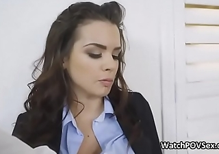 Busty GF wrapped in lingerie big cocked