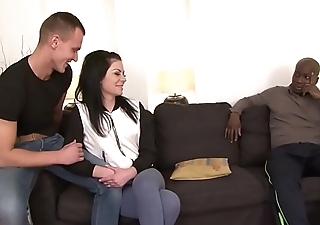 Husband Shares Pink Lingerie Wife with Black Guy and she gets ass fucked